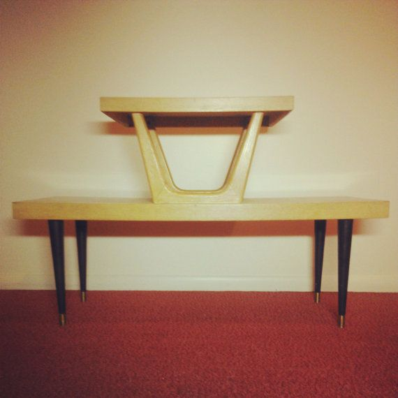 Mersman Mid Century Modern Blonde Coffee Table / TV Stand