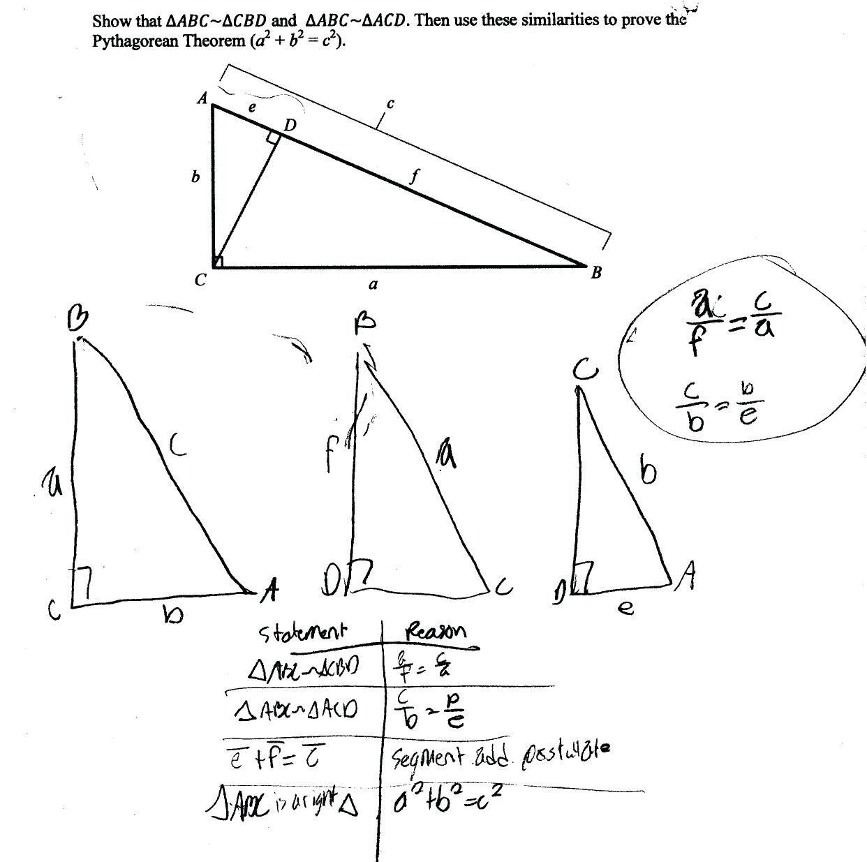 Pythagorean Theorem Puzzles Worksheet Pythagorean Triples