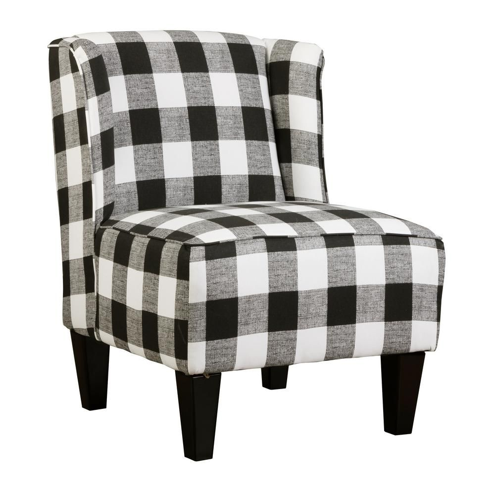 Best Charlie Buffalo Check Black And White Plaid Winged 400 x 300