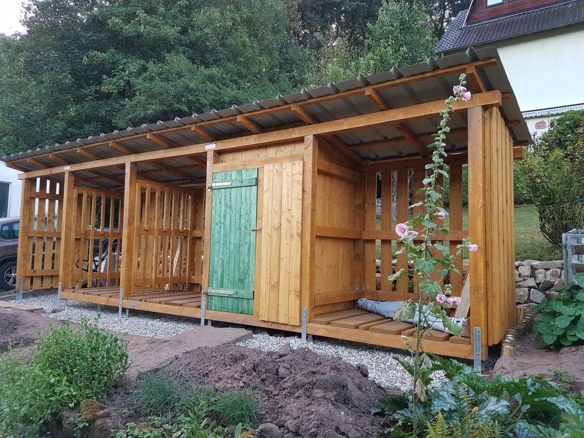 Bau eines Holzlagers | vesab.de #kräutergartenpalette