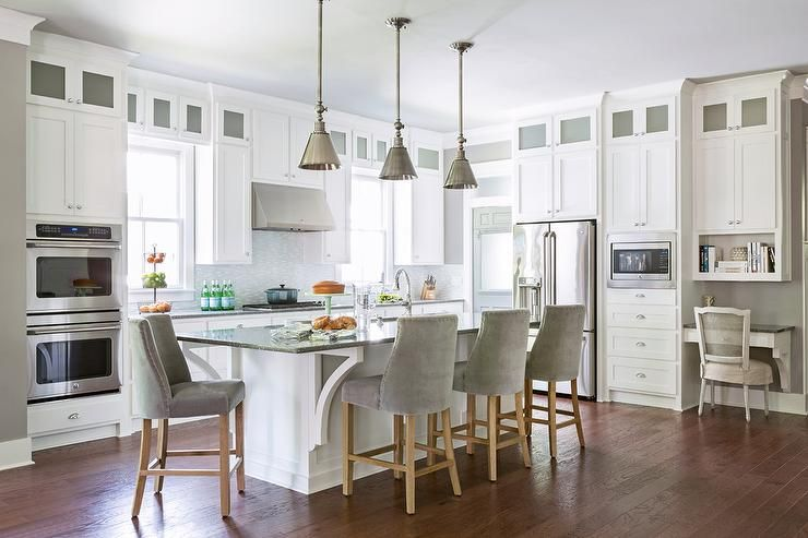 Three Boston Functional Single Pendants With Sld Metal Shades Hang Simple Kitchen Island Counter Design Ideas