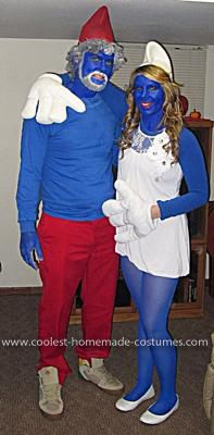 Coolest Papa Smurf and Smurfette Couple Costume  f3b9b82a87