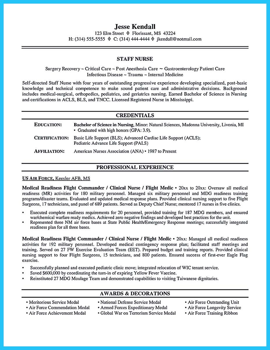 Elegant Awesome Perfect CRNA Resume To Get Noticed By Company,
