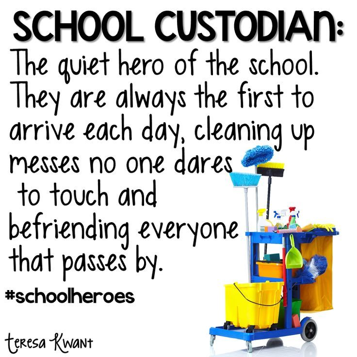We love our custodians! | Elementary Ideas | Pinterest ...