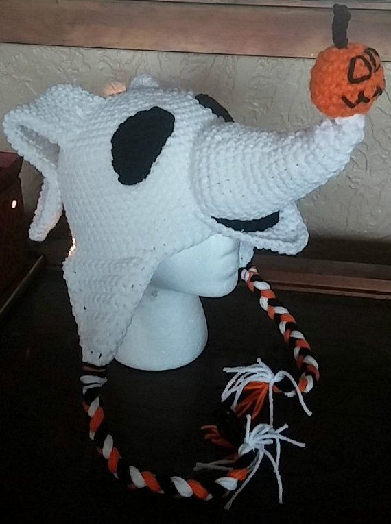Crochet Nightmare Before Christmas Zero Hat by NoGrannyCaps ...