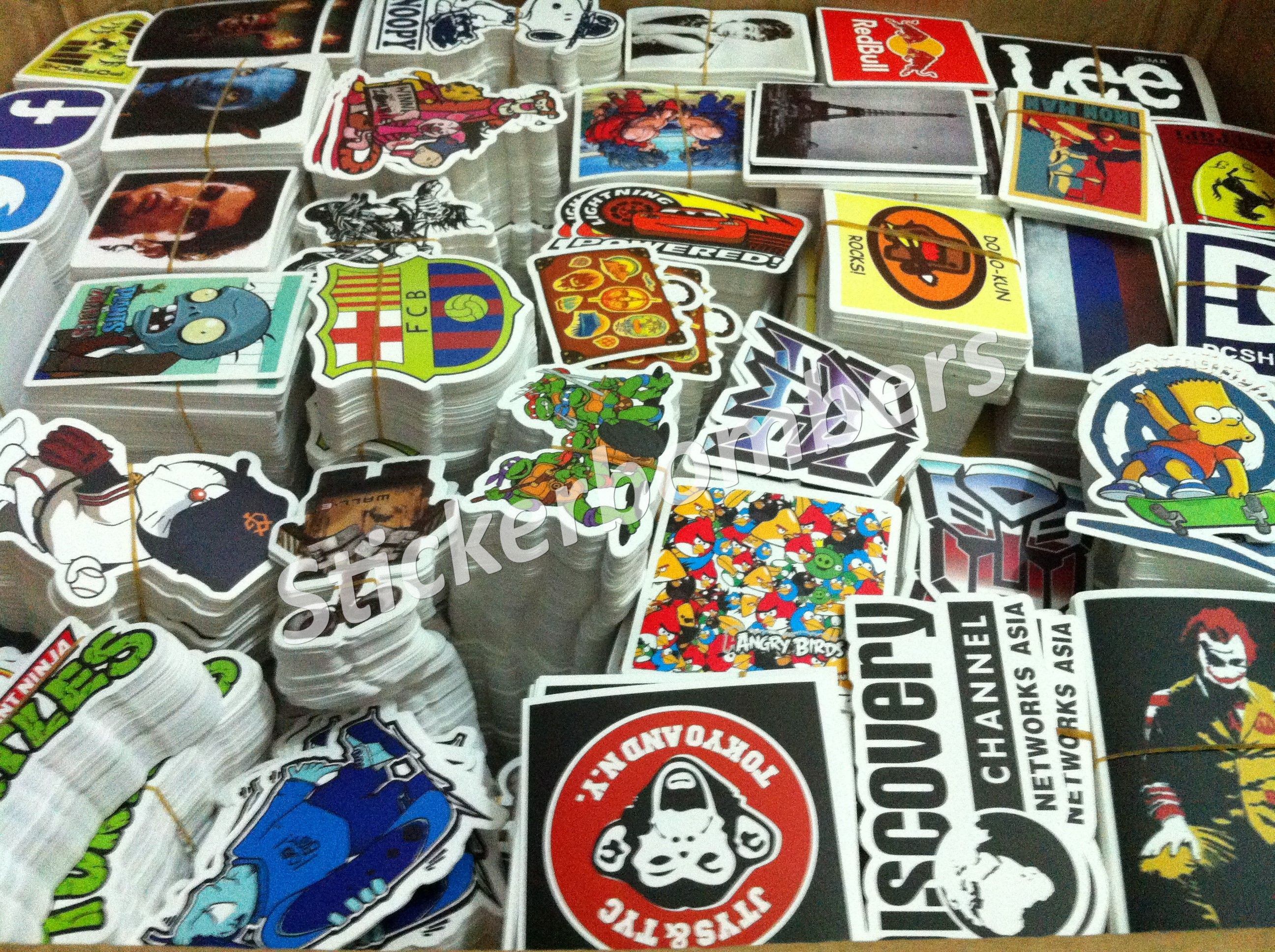 500 #StickerBomb #Stickers for £45 + Free Express P&P to #UK #Europe ...