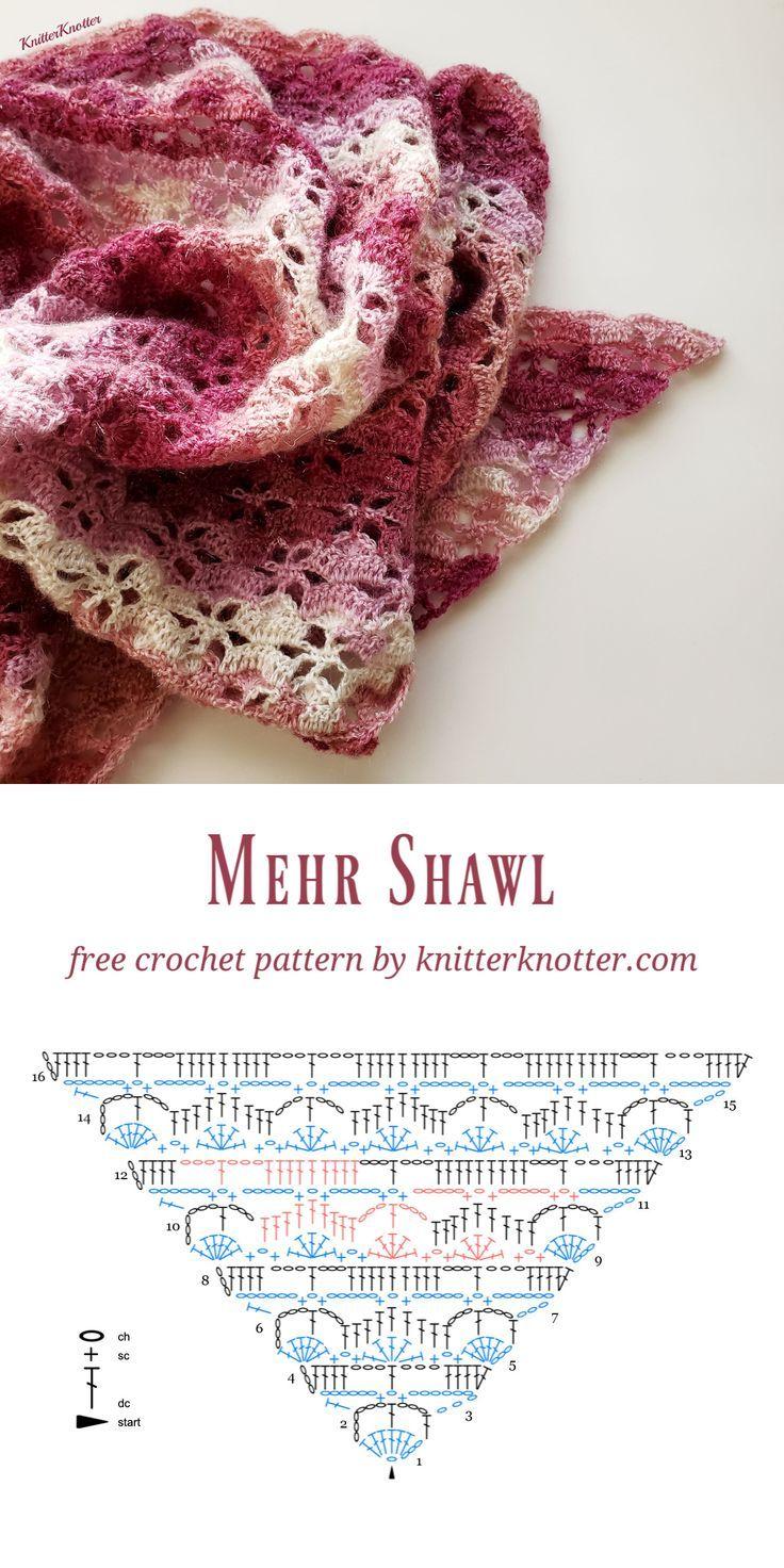 Mehr Shawl - Free crochet pattern!