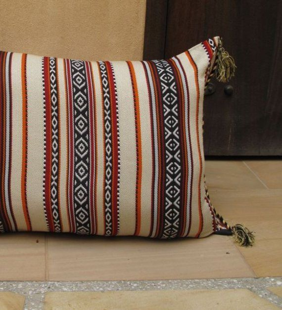 Square cushion cover pillow cover Vintage Middle Atlas fabric in Morocco