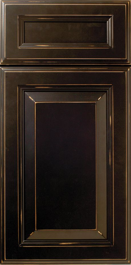 Geneva S370 Design in Paint Grade Maple wood with an Ebony SolidTone® (Paint) Finish - Raised Panel True Blind Mortise u0026 Tenon Cabinet Door Style with a Raw ... & Geneva S370 Design in Paint Grade Maple wood with an Ebony SolidTone ...
