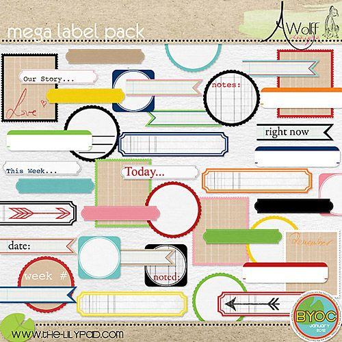 Love The Journaling Labels Mixed With The Notebook Graph Paper