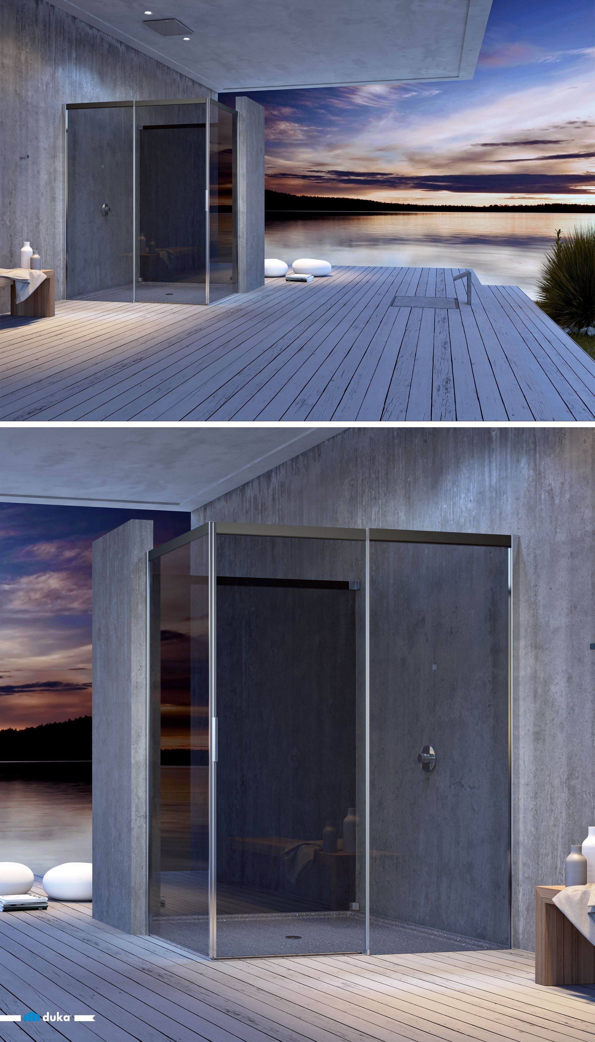 acqua R 5000 • do you like showering at sunset? The parsol grey ...