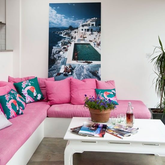 Palm Springs Living Room, Surface View Canvas Art