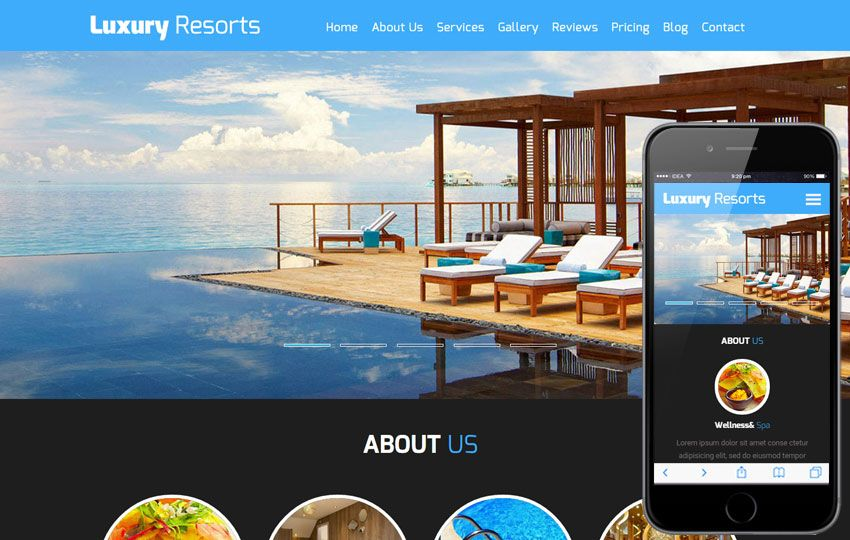 Luxury Resorts a #Hotel #Category #Flat #Bootstrap #Responsive ...
