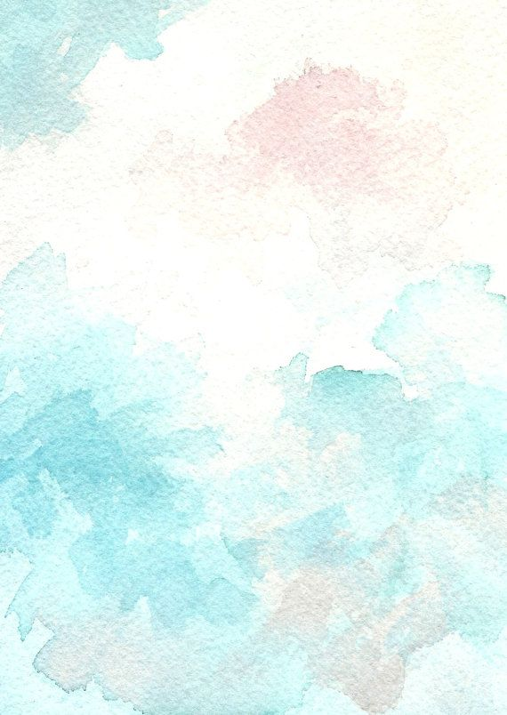 Clouds and Sky   Pastel Watercolour  Cottage Decor  by KiteFlier, $30.00
