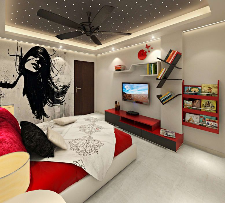 3BHK Flat Interior Design and Decorate at Alwar: asian Nursery-kidu0027s room  by Design Consultant