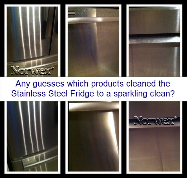 Norwex Window Cleaning: This #stainless #steel Fridge Was Cleaned With Just A Wet