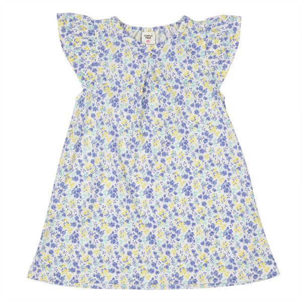 シンプルフリー ワンピース ブルー ファッションアイデア マタニティ ワンピース