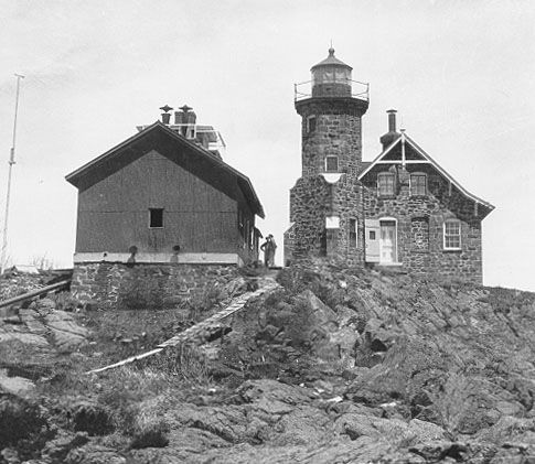 Passage Island Light Station in Keweenaw County, Michigan.