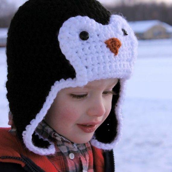 Penguin Hat Pattern - Free | Punedore | Pinterest | Gorros, Pecas y ...