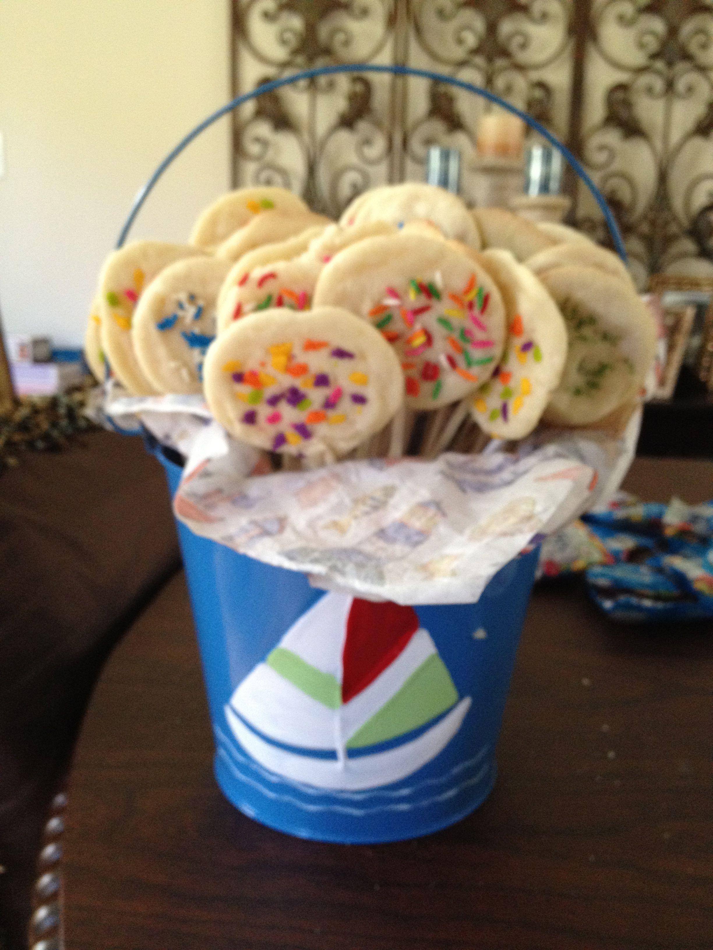 Cookie pops.