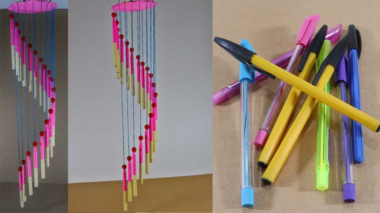 প র তন কলম দ য ব উট ফ ল আইড য Waste Pen Craft Ideas Waste Pen Hanging Reuse Old Pens Pen Craft Diy Dollar Store Crafts Cheap Diy Crafts
