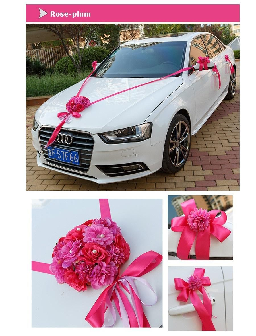 Wedding decorations car  Wedding Car Ribbon Married Car Decorations Bridal Car Decoration