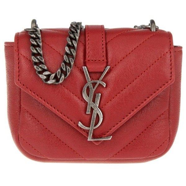 c7e9f677 Saint Laurent Small Leather Goods - YSL Mini Monogram Wallet New Red ...