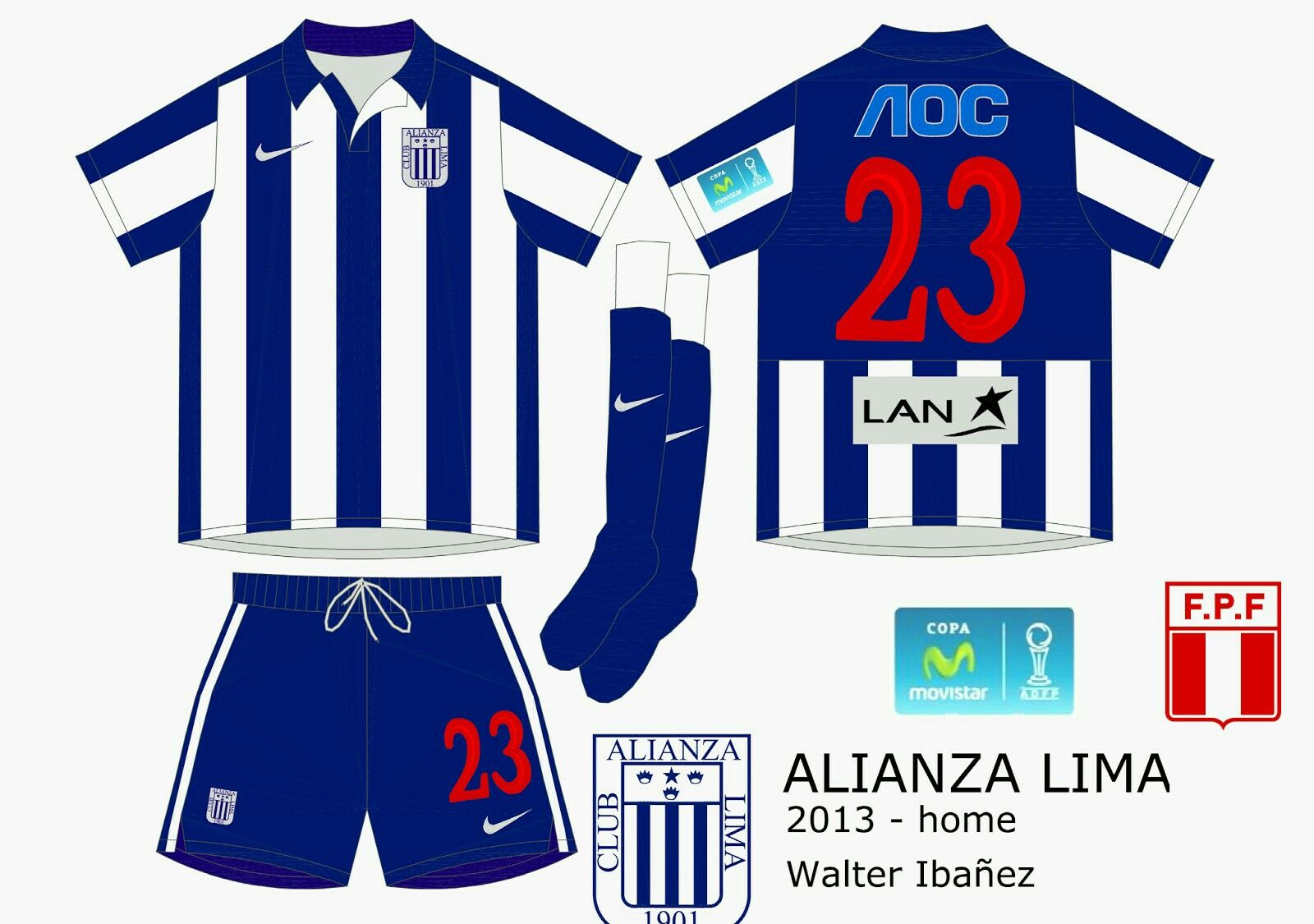 Alianza Lima home kit for 201314. Sports jersey, Lima