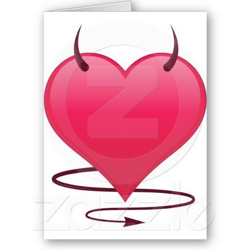 Customization Items Greeting Cards My Devlish Valentine
