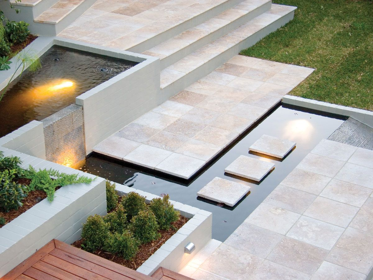 Tumbled Noce Travertine pavers supplied by Sareen Stone. www.sareenstone.com.au