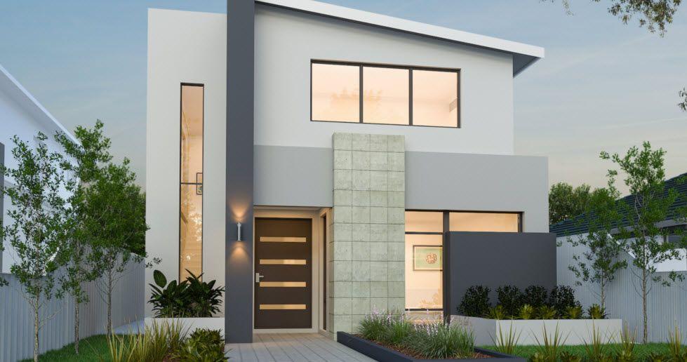 Planos de casas de dos pisos modernas cads3 facade - Casas de dos plantas sencillas ...