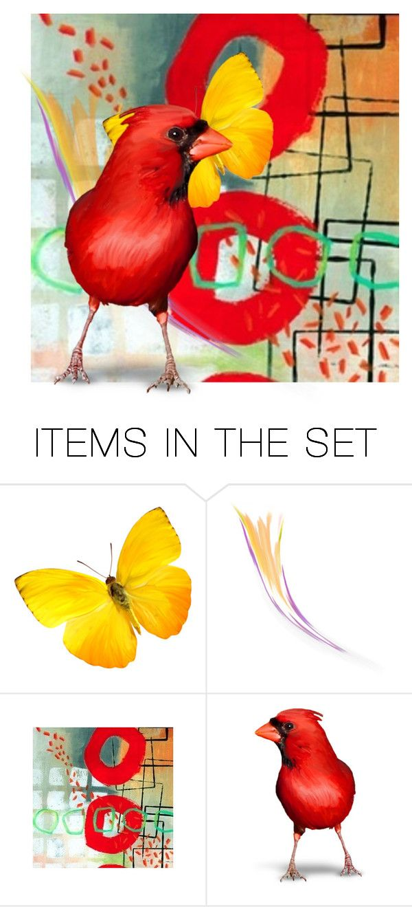 """Bold Colorful Collage"" by jill-bh ❤ liked on Polyvore featuring art"