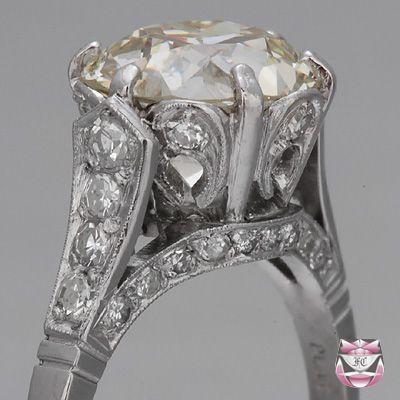 European Diamond Engagement Ring Certified 4 00ct K Vs