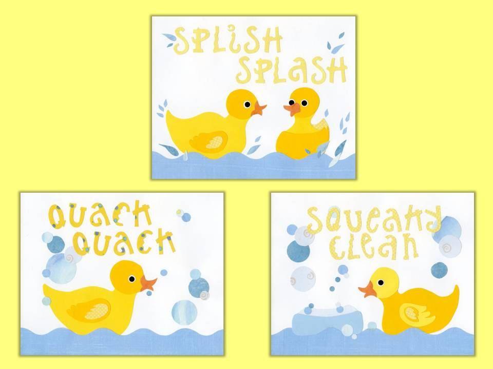 rubber duck kids bath decor kids duck wall art bath decor ducks 3 8 x 10 collage prints rubadub rubber ducky series