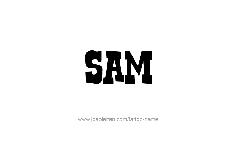 e6983103c Sam Name Tattoo Designs | KUSUM | Sam name, Name tattoos, Name ...