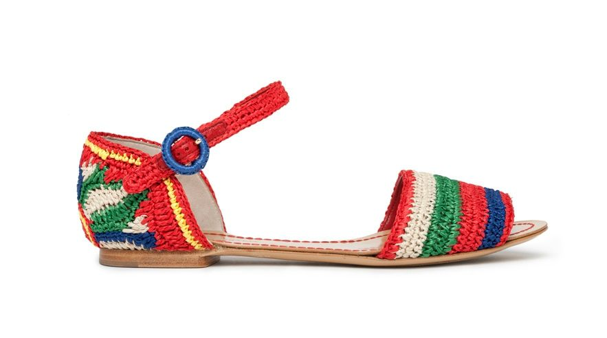 Dolce & Gabbana Crochet Ankle Strap Sandals outlet cheap store cheap online wiki cheap online YgC6SY6zdQ