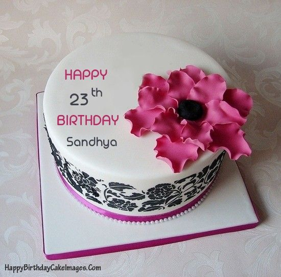 Pink Birthday Cake With Name And Age Happy Images