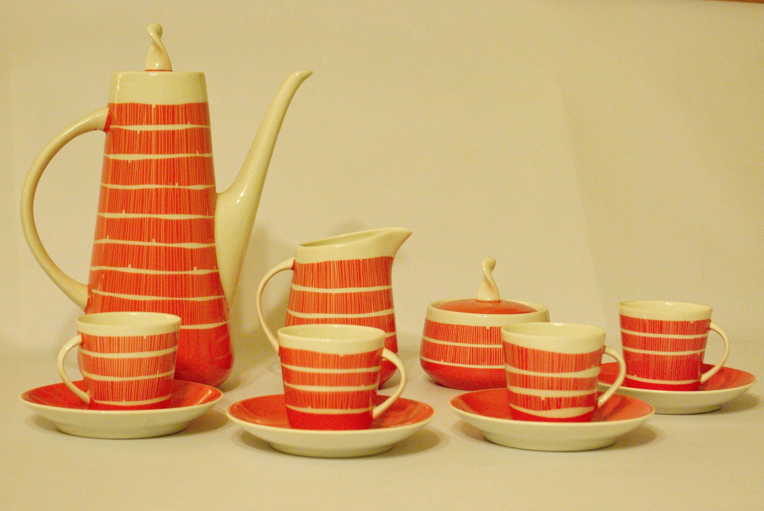 Unikat Serwis Picasso Prometeusz Lata 60te Od1 Zl 6638670373 Oficjalne Archiwum Allegro Porcelain Ceramics Coffee Set Mid Century Kitchen
