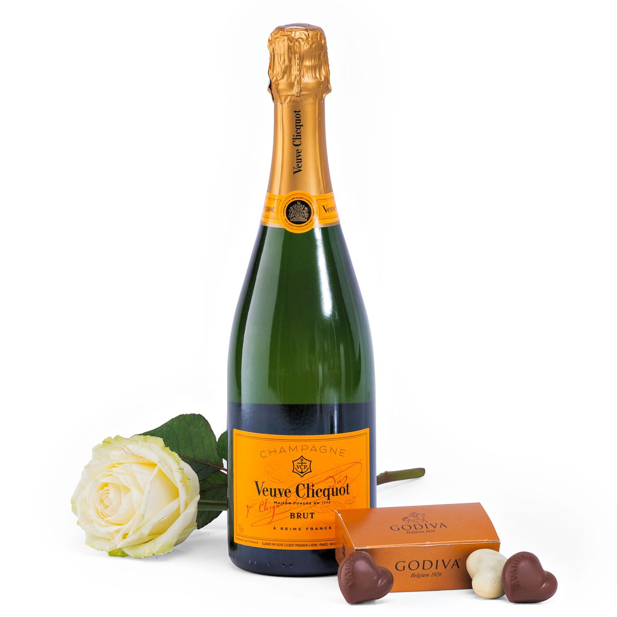 Veuve Clicquot Champagne & Witte Roos