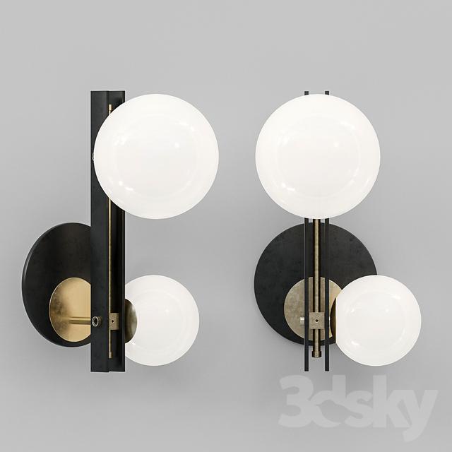 3d Models Wall Light Cattelan Italia Planeta Wall Lamp Woonkamer