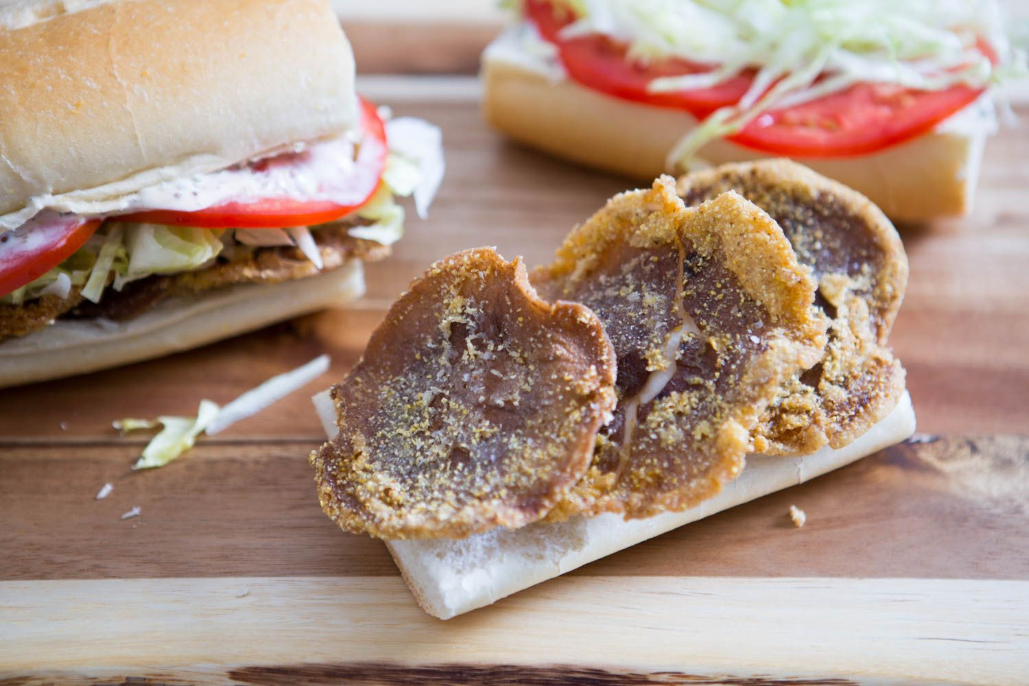 Swap meat for fried shiitake mushrooms in this vegetarian po'boy.