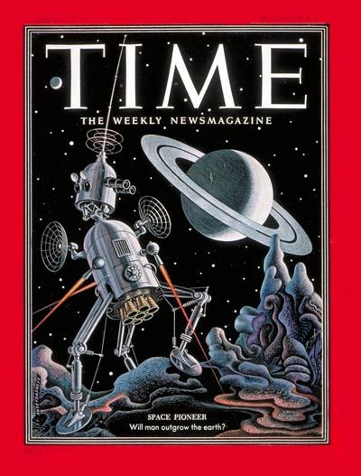 TIME Dec. 8, 1952: Space Pioneer - Will Man Outgrow the Earth? Cover art by Boris Artzybasheff
