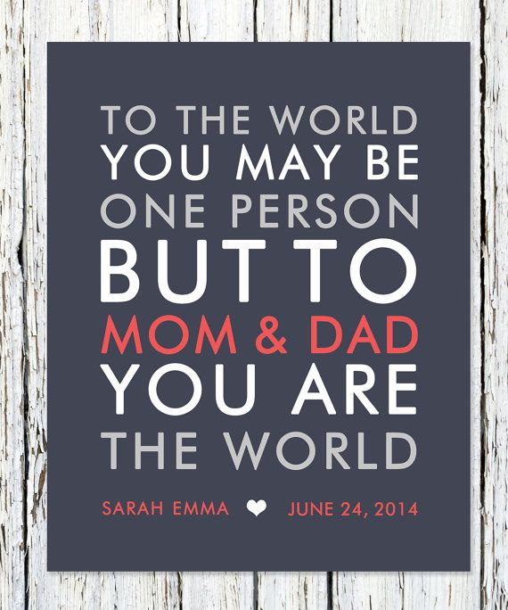Birthday Gift For Mom From Children Kids By WordsWorkPrints 1800
