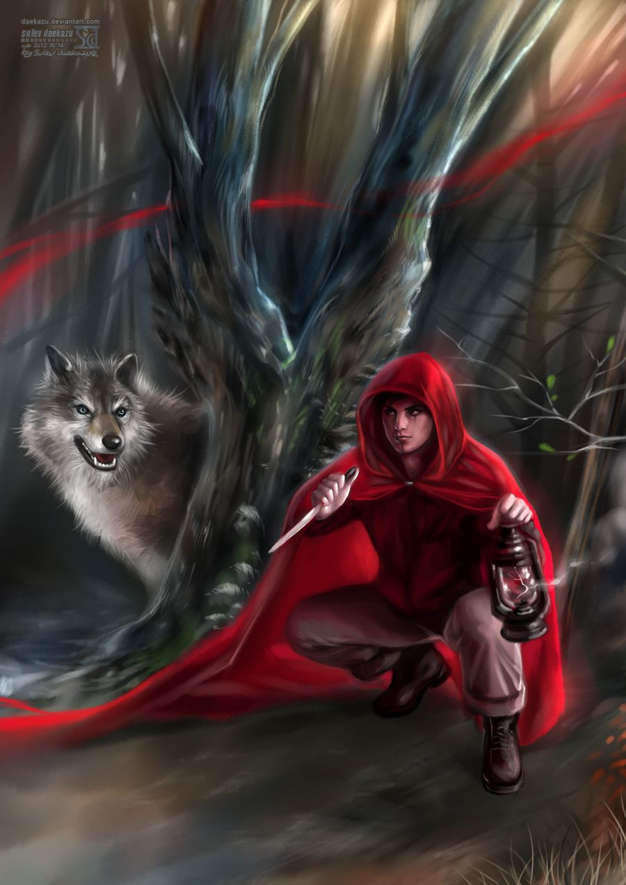 Little Red Riding Hood And Big Bad Wolf By Daekazu Deviantart Com On