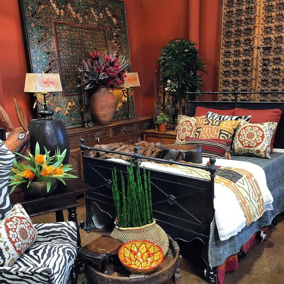 16 Bedroom Decorating Ideas With Exotic African Flavor: African Inspired Bedroom