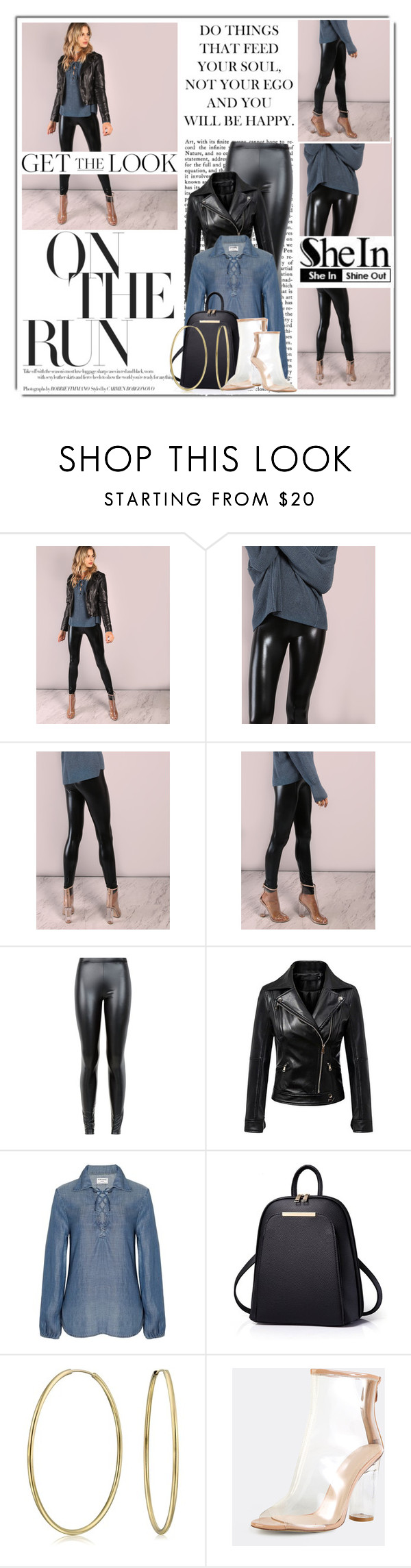 """Oh Those Leggings......Yeah I Know"" by queenrachietemplateaddict ❤ liked on Polyvore featuring JDY, Chicnova Fashion, Frame, Bling Jewelry, GetTheLook, leatherjacket and Leggings"