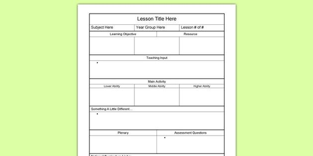 Pin by Katie Howard on School Pinterest Lesson plan templates