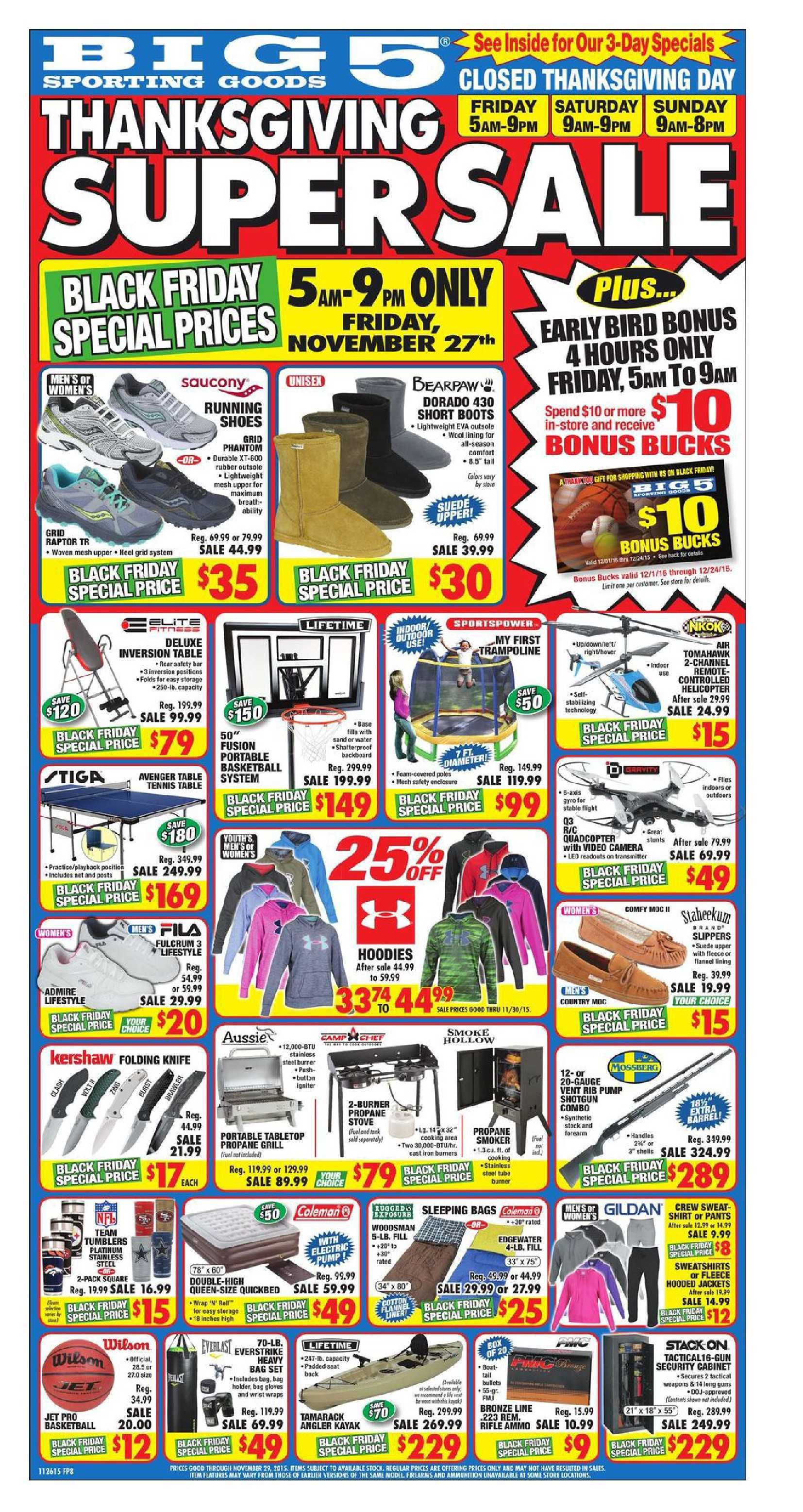 Big 5 black friday 2015 do you know what s in and what s hot in the big 5 for this week here are big 5 ad this week