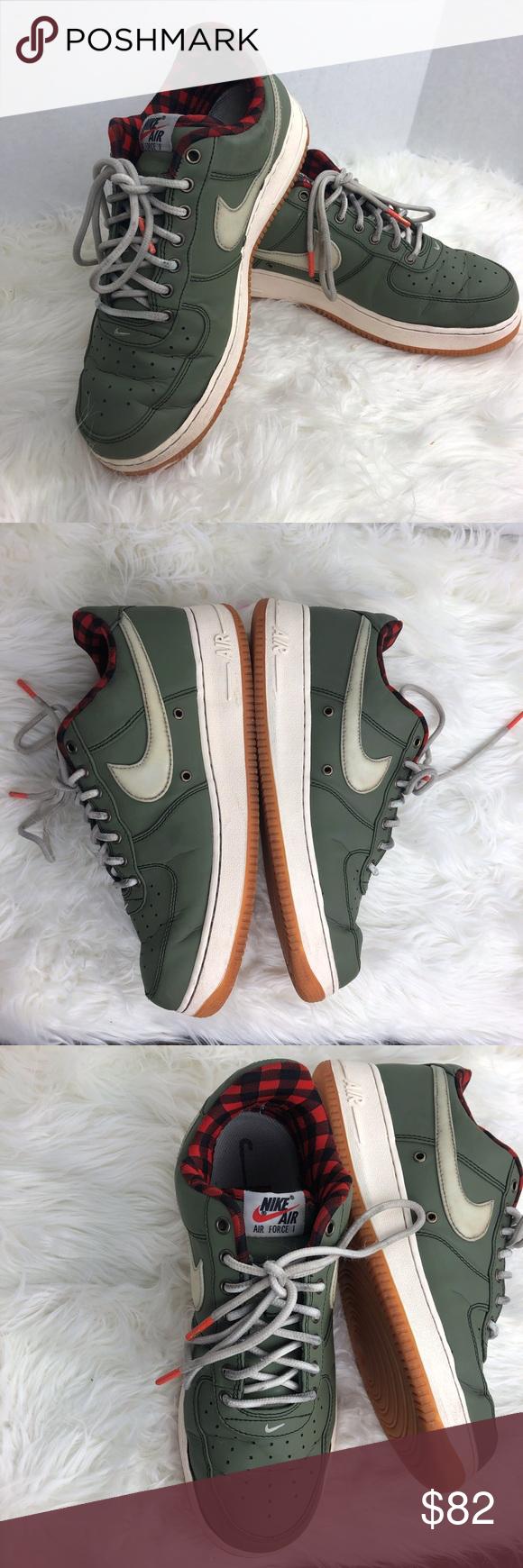 ⬇️Nike Retro Air force 1 LV 08 olive and plaid Nike