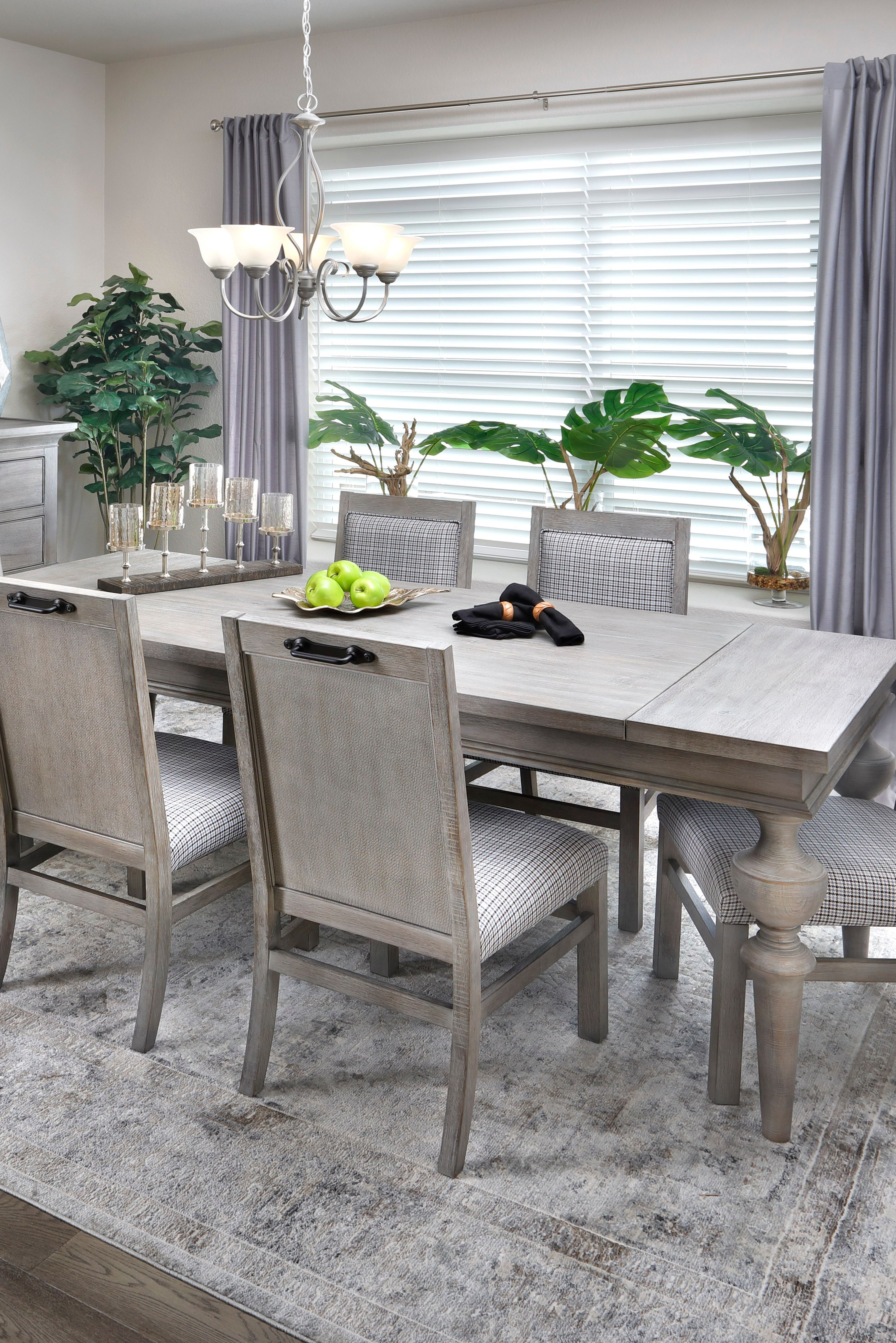 Rock Island 5 Pc Dining Room Set With Parsons Chairs In 2020 Large Dining Room Table Large Dining Room Grey Dining Room